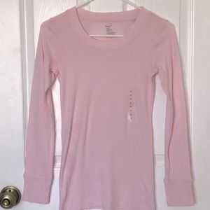 Gap Pink long Cotton Modal T Shirt long Sleeve